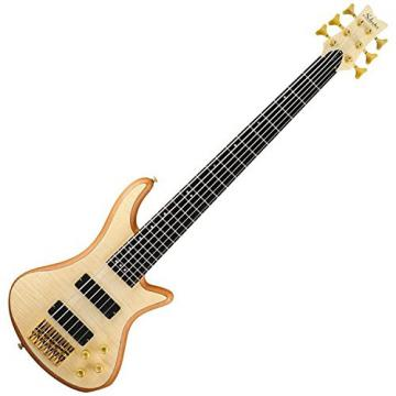 Schecter 6 String Stiletto Custom Electric Bass Natural w/DLX Gig Bag and Stand