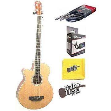 Oscar Schmidt Model OB100NLH LeftY A/E Bass w/Bag, Effin Tuner and More