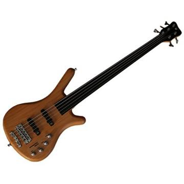 Warwick Rockbass Corvette Basic 5 string fretless bass. Active-Natural satin