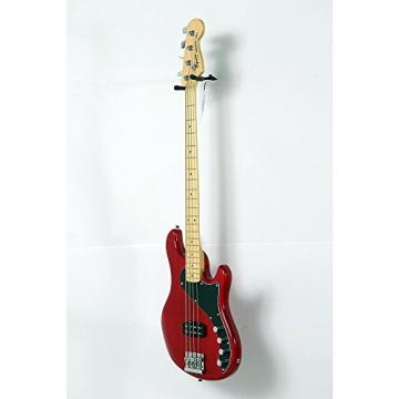 Squier Deluxe Dimension Bass IV Maple Fingerboard Electric Bass Guitar Level 2 Transparent Crimson Red 888365981772
