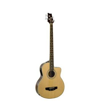 De Rosa GAB47 4 String Cutaway Acoustic-Electric Bass Guitar- NATURAL