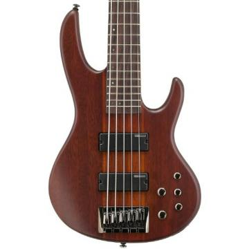 ESP LTD D-5-NS Natural Satin 5-String Electric Bass w/ Accessories & Gig Bag