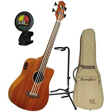 Goldtone M Bass Microbass Short-Scaled Acoustic Electric Bass w/Gig Bag, Stand, and Tuner