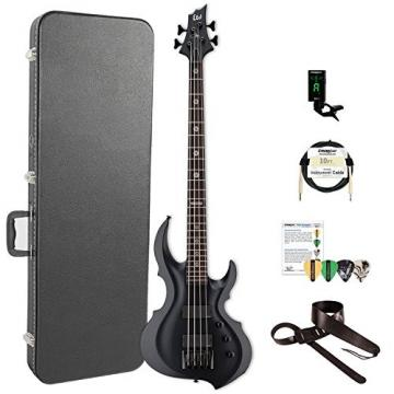 ESP LTA204FRXBLKS-KIT-2 Tom Araya Signature Series 204FRX Electric Bass, Black Satin