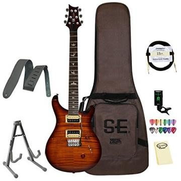 Paul Reed Smith Guitars CM4TS-KIT-1 Custom SE 24 Electric Guitar, Tobacco Sunburst