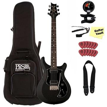 PRS S2 Standard 22 Satin, Charcoal, with Dots Inlays guitarVault Package