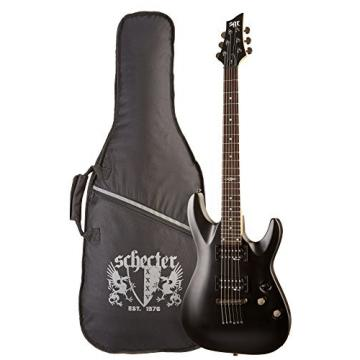 C-1  SGR by Schecter Beginner Electric Guitar - Midnight Satin Black (Amazon Exclusive)