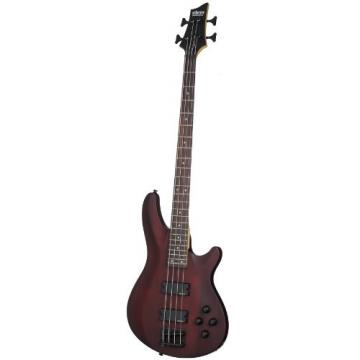 Schecter Omen-4 4-String Electric Bass Guitar Walnut Satin