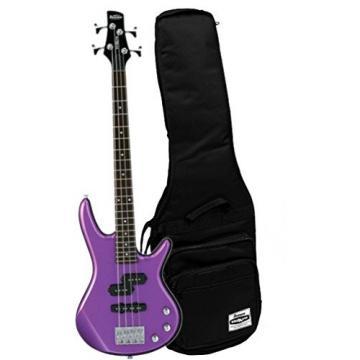 "Ibanez GIO GSRM20MPL Metallic Purple 28.6"" Scale 4 String Bass Guitar w/ Gig Bag"