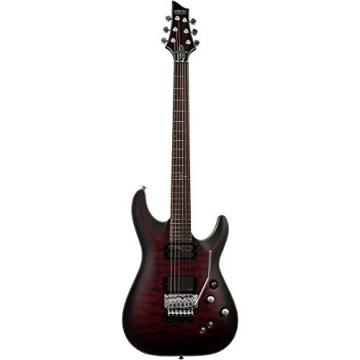 Schecter Guitar Research C-1 Platinum FR-Sustaniac Satin Crimson Red Burst
