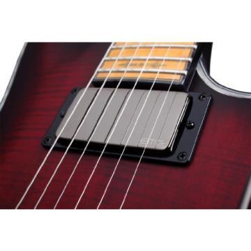 Schecter Hellraiser C-1 FR Extreme 6-String Electric Guitar, Crimson Red Burst Satin