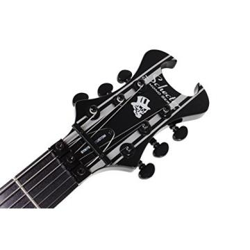 Schecter Guitar Research Synyster Gates Custom Electric Guitar - Black with Silver Pinstripes