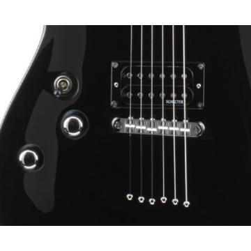 Schecter Omen-6  Electric Guitar (Gloss Black, Left Handed)