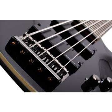 Schecter Guitar Research Omen-5 2012 5-String Electric Bass Guitar - Black