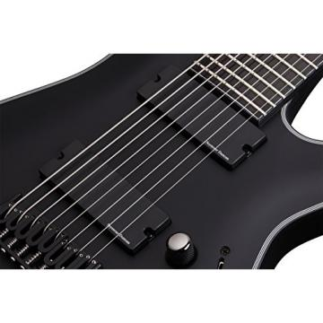 Schecter Blackjack Slim Line Series C-8 EX 8-String Electric Guitar, Satin Black, with Active Pickups