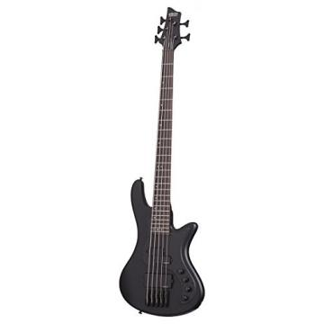 Schecter 2523 5-String Bass Guitar, Satin Black