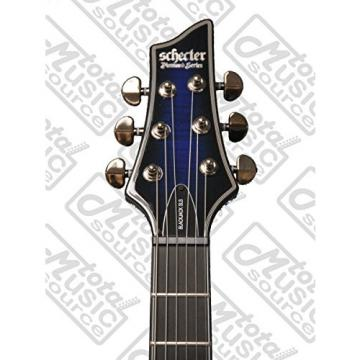 Schecter Blackjack Slim Line Series C-1 6-String Electric Guitar w/Case, See-Thru Blue Burst Bundle, w/Passive Pickups