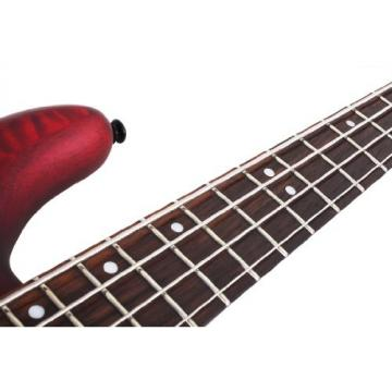 Schecter Stiletto Custom-4 Electric Bass Guitar (4 String, Vampyer Red Satin)