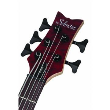 Schecter Stiletto Custom-5 Electric Bass Guitar (5 String, Vampyer Red Satin)