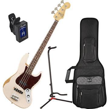 Fender Flea Signature Bass Guitar Roadworn Shell Pink w/ Stand and Tuner