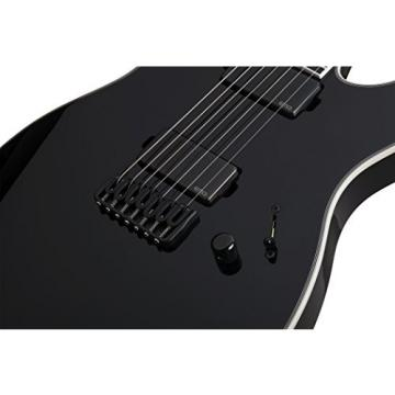 Schecter 255 7-String Solid-Body Electric Guitar, Black