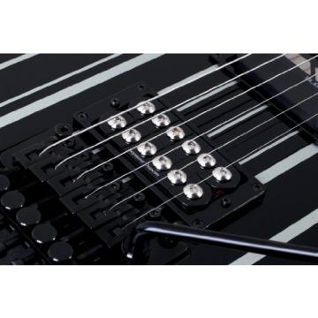 Schecter 203 Synster Custom-Sustainiac 6-String Electric Guitar (Black/Silver)
