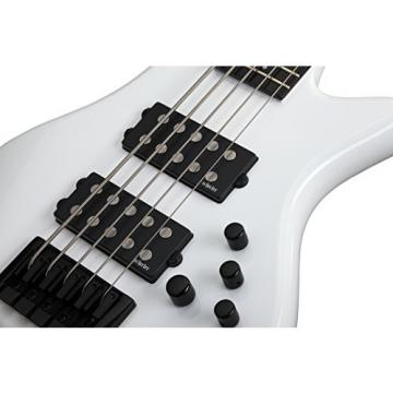 Schecter 2842 5-String Bass Guitar, Gloss White