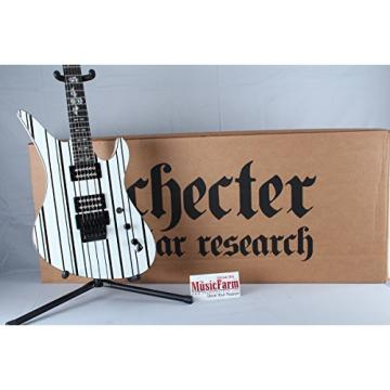 Schecter Synyster Gates Custom White w/ Black Stripes Electric Guitar