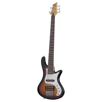 Schecter 2525 5-String Bass Guitar, 3-Tone Sunburst