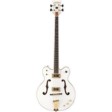 Gretsch G6136LSB White Falcon Electric Bass Guitar - White