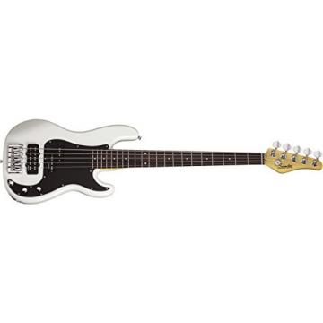 Schecter Diamond-P Custom 5-String Bass, White