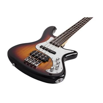 Schecter 2524 4-String Bass Guitar, 3-Tone Sunburst
