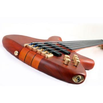 Schecter Stiletto Studio-5 Fretless Electric Bass (5 String, Honey Satin)