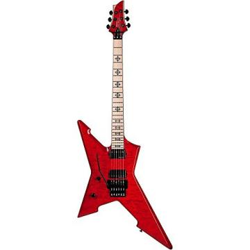 Schecter Guitar Research Cygnus JLX-1 with Floyd Rose Left-Handed Electric Guitar See-Thru Cherry