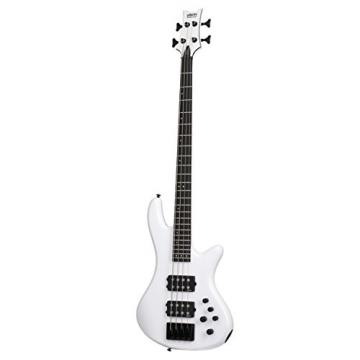 Schecter 2840 4-String Bass Guitar, Gloss White