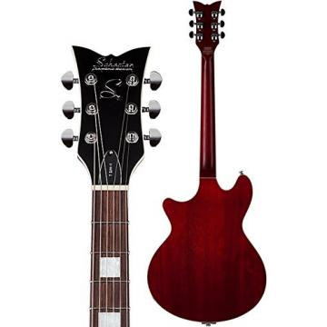 Schecter 290 Semi-Hollow-Body Electric Guitar, See-Thru Cherry Pearl