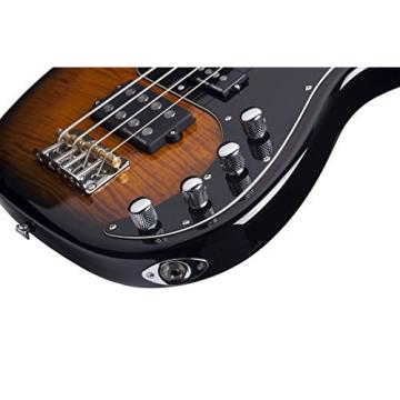 Schecter DIAMOND-P PLUS DVS 4-String Bass Guitar, Dark Vintage Sunburst