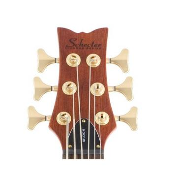 Schecter Stiletto Studio-6 Electric Bass (6 String, Honey Satin)