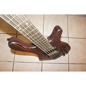 Electric Bass Guitar, 5 String, Active Pickups, neck through body