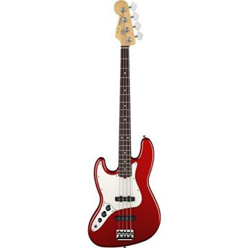 Fender American Standard Jazz Bass Guitar, Left Handed,  Rosewood Fingerboard, Mystic Red