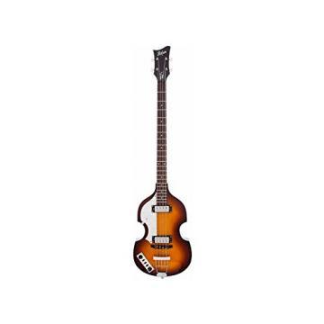 Hofner Violin Bass - Ignition Left-Handed Sunburst 4-String Electric Bass w/ Case