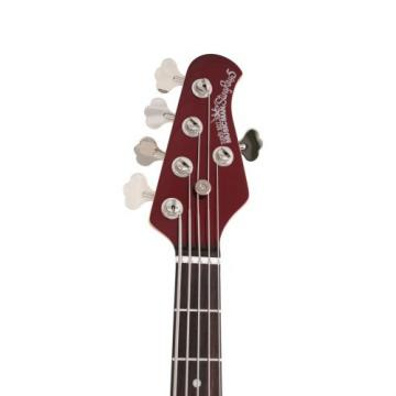 Ernie Ball Music Man Stingray 5 String Bass, Candy Red