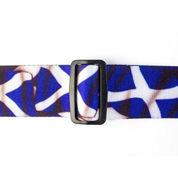 LeatherGraft Scotland Scottish Saltaire Printed Flag Country National Design Guitar Strap