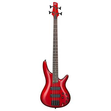 Ibanez SR300B 4-String Electric Bass Guitar, Candy Apple Finish with Kaces KQA-120 GigPak Acoustic Guitar Bag and Custom Designed Instrument Cloth