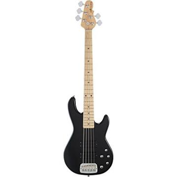 G&L Tribute M2500 5-String Electric Bass Gloss Black Maple Fretboard