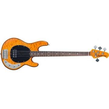Sterling by Music Man Ray34 StingRay Bass, Quilted Maple Amber
