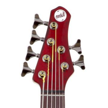 MTD Kingston Bass Guitar Z 6 String, Rosewood Fingerboard, Transparent Cherry
