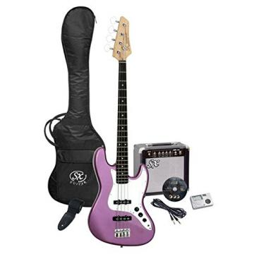 SX Ursa 2 PK RN MPP Purple Bass Guitar Package w/Amp and Video Instruction