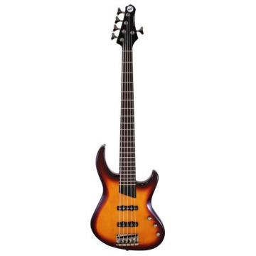 MTD Kingston Saratoga 5 RW Rosewood Fretboard 5 String Bass, Tobacco Sunburst