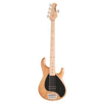 Ernie Ball Music Man Stingray 5 String Bass, Natural, Maple Board